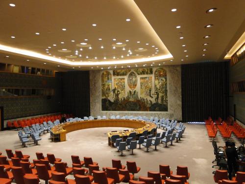 Weltsicherheitsrat im UN-Gebäude